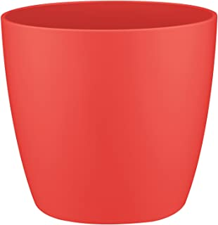 elho Brussels Maceta Redonda, Rojo (Poppy Red), 13x13x11,4 cm