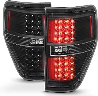 ACANII - For Black 2009-2014 Ford F150 F-150 LED Tail Lights Brake Lamps Left+Right 09-14