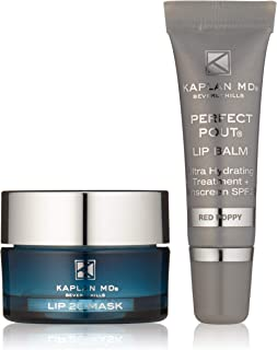 KAPLAN MD Perfect Pout Duo Mini Lip Mask + Lip Balm Set, 0.5 oz.