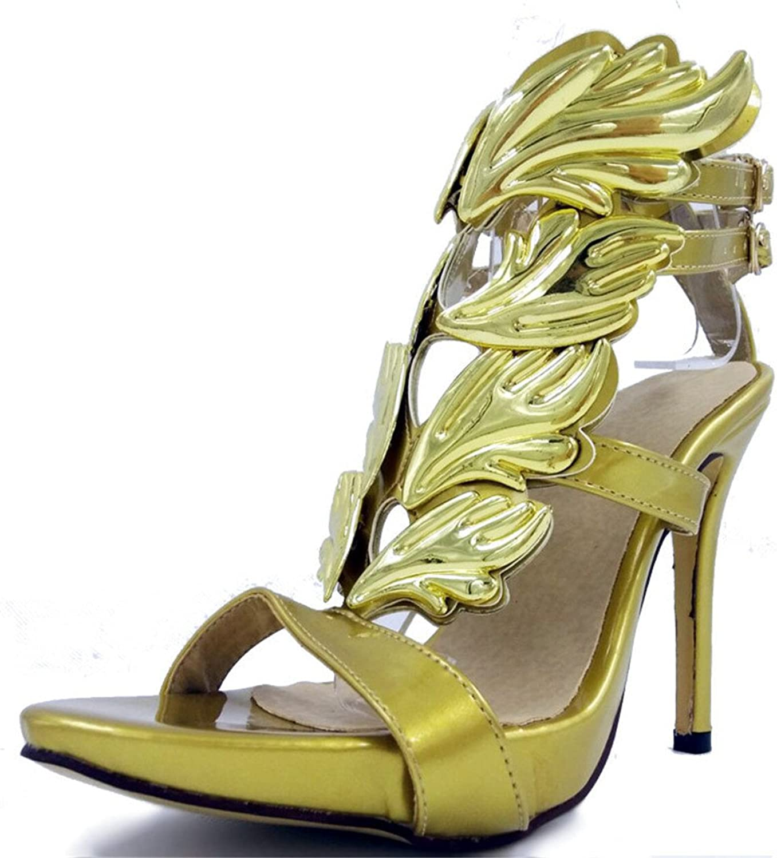 Women's Personality Fashion High Heels Summer Sandals Waterproof Platform Large Size Pumps 34-43