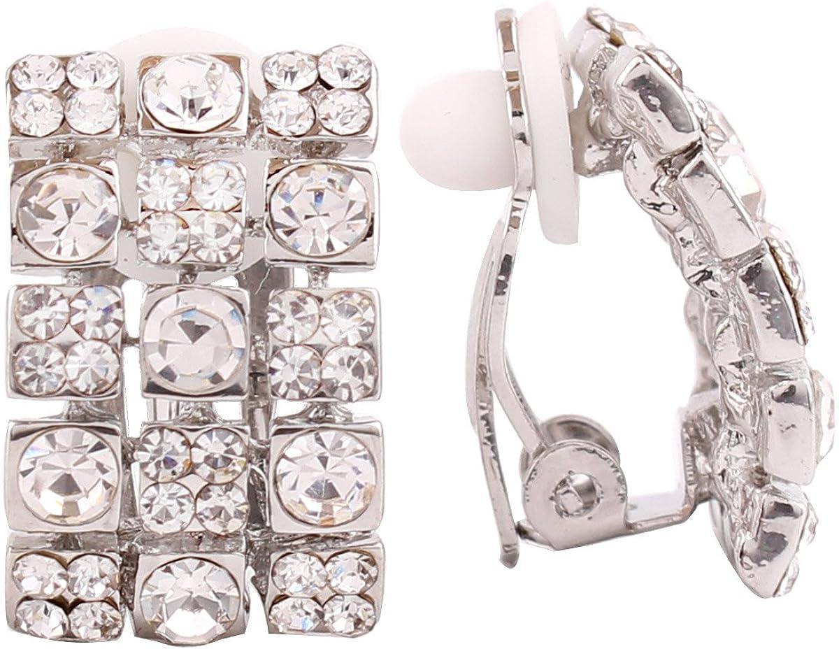 Bridal Earring Silver Gold Plated 3 Crystal Rhinestone National uniform free shipping Geome online shop Row