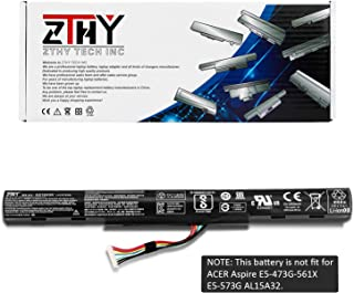 ZTHY AS16A5K AS16A7K AS16A8K Laptop Battery Replacement for Acer Aspire E15 E5-475 E5-475G E5-523 E5-553 E5-575 E5-575G E5-575T E5-575TG E5-774 E5-774G E5-475-31A7 E5-575-59QB 14.8V 2800mAh 4Cell