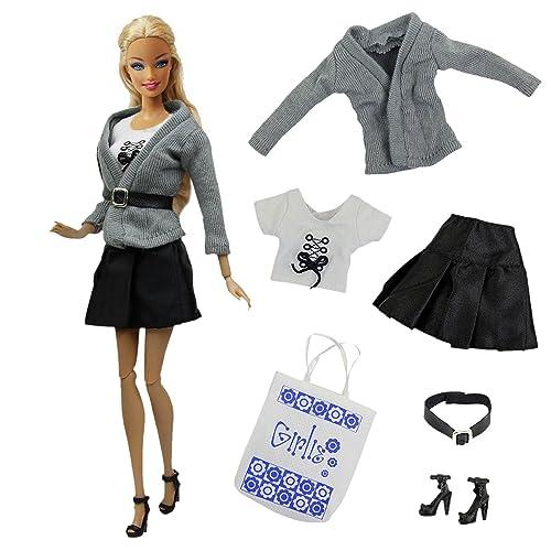 ZITA ELEMENT 5 en 1Set Casual Costume de Vêtement pour poupée Barbie-Vêtements Match avec Sac et Bottes
