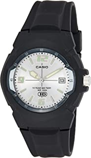 Casio Men's Silver Dial Resin Analog Watch - MW-600F-7AVDF