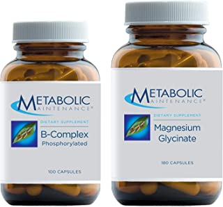 Metabolic Maintenance 2-Product Cardiovascular Support Set with Magnesium Glycinate - Pure Magnesium + Vitamin C Supplemen...
