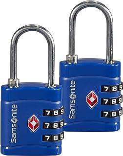 Global Travel Accessories - Three Dial TSA Combi Candado para Equipaje 7 Centimeters 1 Azul (Midnight Blue)