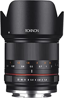 Rokinon RK21M-E 21mm F1.4 ED AS UMC High Speed Wide Angle Lens for Sony, black