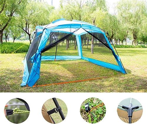 Gazebo Event Shelter Party Tent De Marque, Tente Grand Abri Solaire Portable, Construction De Poteaux en Acier Robuste, pour Les Festivals, Le Jardin Et Le Camping 365cm365cm215cm