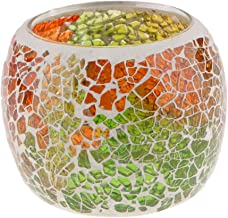 MagiDeal Moroccan Mosaic Glass Votive Candle Tea Light Holder Bowl Candleholders Candelabra Candlestick 3inch Dia for Home...