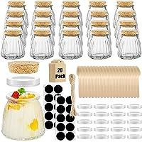 20-Pcs Folinstall Small Spices Glass Jars 4-oz Deals