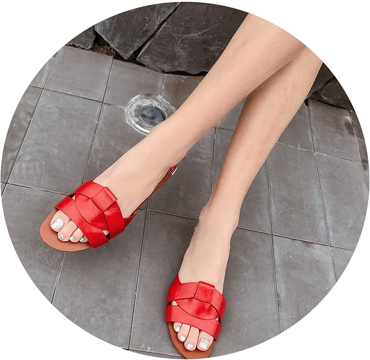 Milk Maniac Summer Slippers Women's shoes Mixed color Beach flip Flops Outdoor Female Slip on Slides