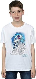 Star Wars niños The Last Jedi R2-D2 Brushed Camiseta