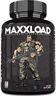 MAXXLOAD Ultimate Male Pills (60 Capsules) Enlargement Booster for Men - Increase Energy, Mood, Size & Endurance - All Natural Performance Enhancing Supplement - 1 Month Supply