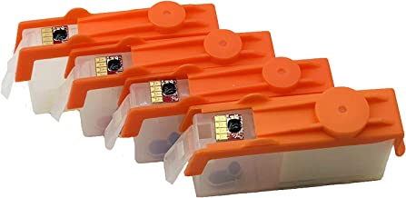 UV INFOTECH 920 (C/M/Y/B) Empty REFILLABLE Cartridge with AUTO Reset CHIP (ARC) Compatible with HP 6000/6500 / 7000 Printer