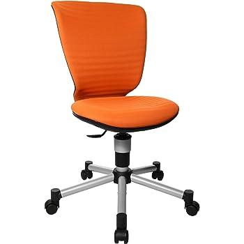 Topstar Titan Junior 3D, mitwachsender Kinderdrehstuhl, Schreibtischstuhl für Kinder & Jugendlinche, Stoff, orange, 45 x 45 x 100 cm