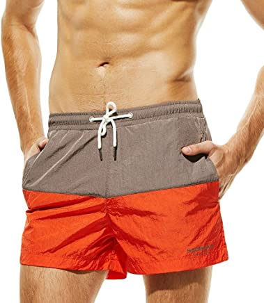 4a118e5c6d3 XINDEEK Men Swimwear Summer Holiday Patchwork Quick Dry Swimming Shorts Slim  Breathable Trunks