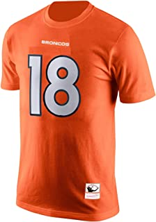 Mitchell & Ness Peyton Manning Denver Broncos #18 Men's Player Name & Number T-Shirt Orange
