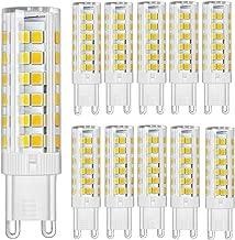 Paquete de 10 - Bombillas LED G9 7W Super Bright 450LM (Equivalente a lámpara halógena de 60W) con 2835 SMD 75 LEDs 230V No regulable Blanco cálido