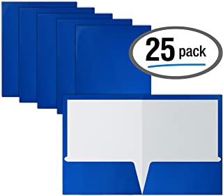 blue glossy paper