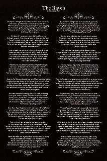 Edgar Allan Poe The Raven Poem Art Print Laminated Dry Erase Sign Poster 12x18