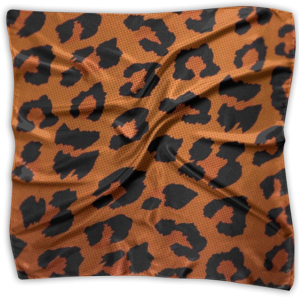 YANGZXC Leopard Skin Animal Print Handkerchief Polyester Pocket Square Mulipurpose Silk Bandanas Delicate Printing