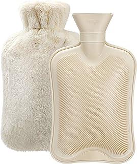 بطری آب گرم با روکش نرم (2 لیتر) کیسه آب گرم کلاسیک لاستیکی برای گرفتگی عضلات ، گردن ، تسکین درد شانه ها ، بسته سرد گرم برای درمان سرد و گرم و گرم کننده پا ، هدیه عالی برای زنان و دختران
