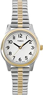 Timex Women's Quartz Watch, Analog Display and Stainless Steel Strap T2N068