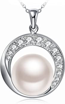 J.Rosee Women 925 Sterling Silver Freshwater Cultured Pearl Necklace