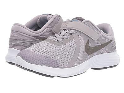 Nike Kids FlyEase Revolution 4 Wide (Big Kid) (Atmosphere Grey/Metallic Pewter) Boys Shoes