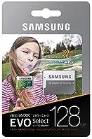Samsung (MB-ME128GA/AM) 128GB 100MB/s (U3) MicroSDXC EVO Select Memory Card with Full-Size Adapter