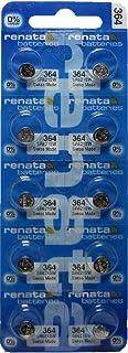 Renata 10 Pack 364 Renata Silver Oxide 0% Mercury Electronic Batteries SR621SW