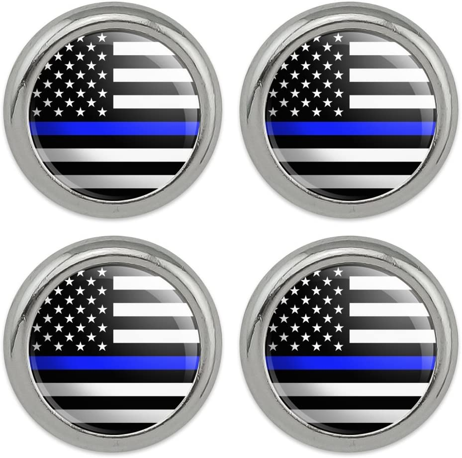 Thin Blue Line American Inventory cleanup selling sale Flag Sewing Direct sale of manufacturer Craft Novelty Metal Buttons