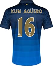 Nike Manchester City Away 2014/15 Jersey (Official with Kun Aguero 16 - Size Medium