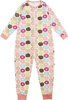 Sunnycows Kids Onesie Pajamas Cotton Easy Zip Open One Piece Pajamas for Children Size 3T-9T …