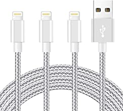 iPhone Charger [MFi Certified] 3Pack 6 FT Charging Cable Nylon Braided USB Charger Cord Compatible with iPhone 12/11/XS/X...