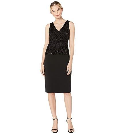 Adrianna Papell Beaded Cocktail Dress (Black) Women