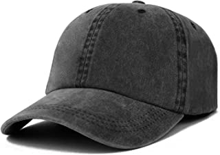 Trendy Apparel Shop Oversize XXL Pigment Dyed Washed Cotton Baseball Cap