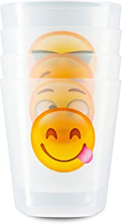 Lifetime Inc Cups for Kids Toddlers Premium BPA Free Unbreakable Drinking Cups 8 oz Emoji Design