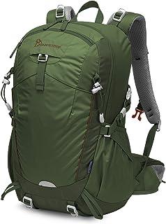 Mochila Senderismo 35 litros a Montañismo Alta Capacidad Hombre Mujer Escalada Deporte Morral para Viajes Acampadas Impermeable con Cubierta De Lluvia