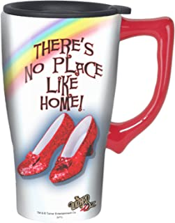 Spoontiques 12139 Ruby Slippers Ceramic Travel Mug, Toy, Multi Colored