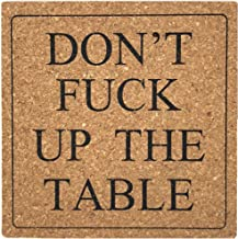 Funny Coasters 8 Pack - Absorbent Cork Coaster Set for Drinks, Housewarming Hostess Gifts as New Home Decor, Man Cave House Warming Presents, Fun Gift to Wedding Registry, Cool Living Room Decorations