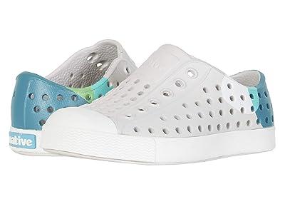 Native Kids Shoes Jefferson Block (Toddler/Little Kid) (Tundra Grey/Shell White/Dot Block) Kids Shoes