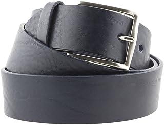 La Bottega del Calzolaio Cintura blu uomo donna in cuoio artigianale made in Italy 4 cm