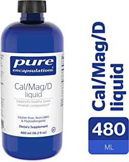 Pure Encapsulations - Cal/Mag/D Liquid - Calcium, Magnesium and Vitamin D in a Convenient Liquid Form - 480 ml.