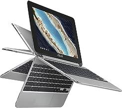 2018 Newest Premium High Performance Asus 10.1in Touchscreen Flip 2-in-1 Chromebook Rockchip RK3399 Processor 4GB RAM 16GB eMMC 802.11AC HDMI Webcam Bluetooth Chrome OS-Silver (Renewed)