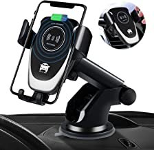 SANCEON Qi Wireless Car Charger Mount, 10W Fast Charging Car Phone Holder Air Vent Dashboard Compatible with iPhone 11/11 Pro/11 Pro Max/Xs/Xs Max/XR/X/ 8/8 Plus, Samsung Galaxy S10 /S10+/S9 /S9+/S8