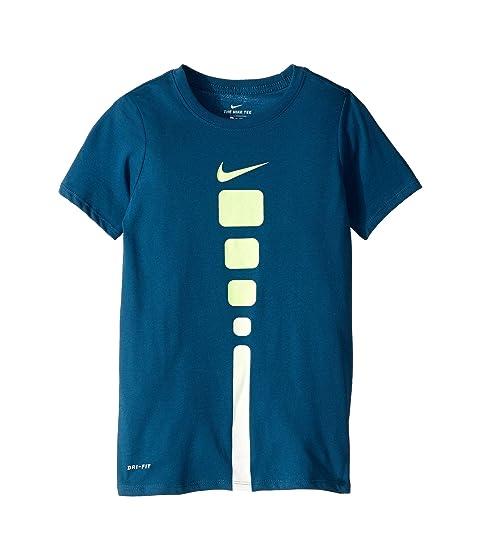 395ce070 Nike Kids Dry Elite Basketball T-Shirt (Little Kids/Big Kids) at ...
