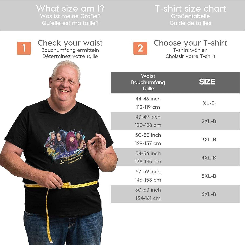 lwufnok Descendants 3 Big Size Men's t-Shirt Round Neck Short Sleeve T-Shirt