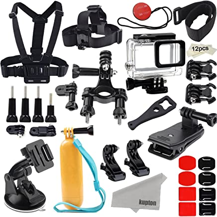 Kupton Accessories for GoPro Hero 7/6/ 5/Hero (2018) Action Camcorder Camera Accessories Mounts Waterproof Case Chest Head Strap Bike Car Backpack Clip Mount for Go Pro Hero7 Hero6 Hero5