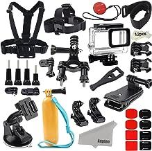 Kupton Accessories for GoPro Hero 7 Black/Hero 6/ Hero 5/ Hero 2018 Action Camera Include Waterproof Housing Case Chest Head Strap Bike Car Mount Floating Grip Bundle Set Kit for Go Pro Hero 7 6 5